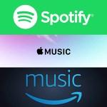 Spotify←邦楽ないやん Amazonのやつ←邦楽ないやん Appleのやつ←邦楽ないやん