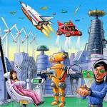 古いSF「2020年には空飛ぶ車と…投影するPCと現金は使われなくなってて…虹彩認証が流行ってて」←これ