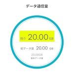 【速報】ワイ、ついにahamoの20GBを使い切る