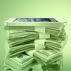 iphone-money-pile