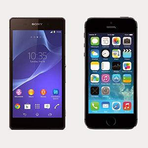 vergelijking-sony-xperia-z2-vs-apple-iphone-5s