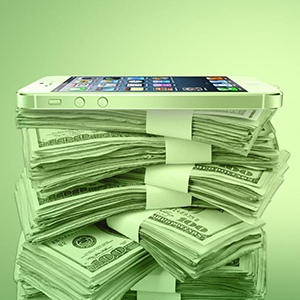 iphone-money-pile