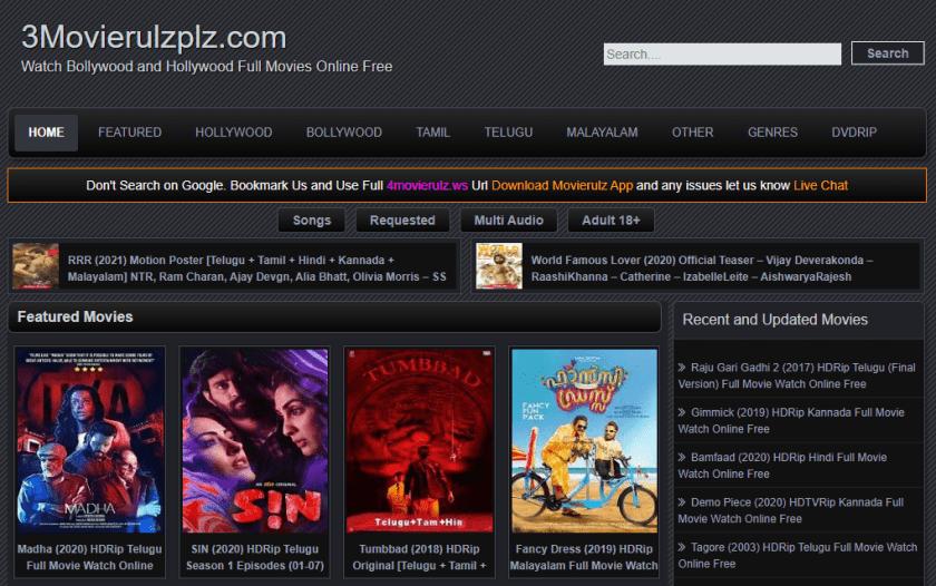 3movierulz 2021: 3movierulz Illegal HD Bollywood Movies, Hollywood Full Movies Download at 3movierulz com