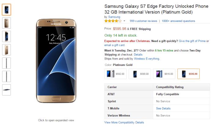 Samsung Galaxy S7 Edge discount