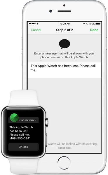 Find My Watch Lost Mode activation