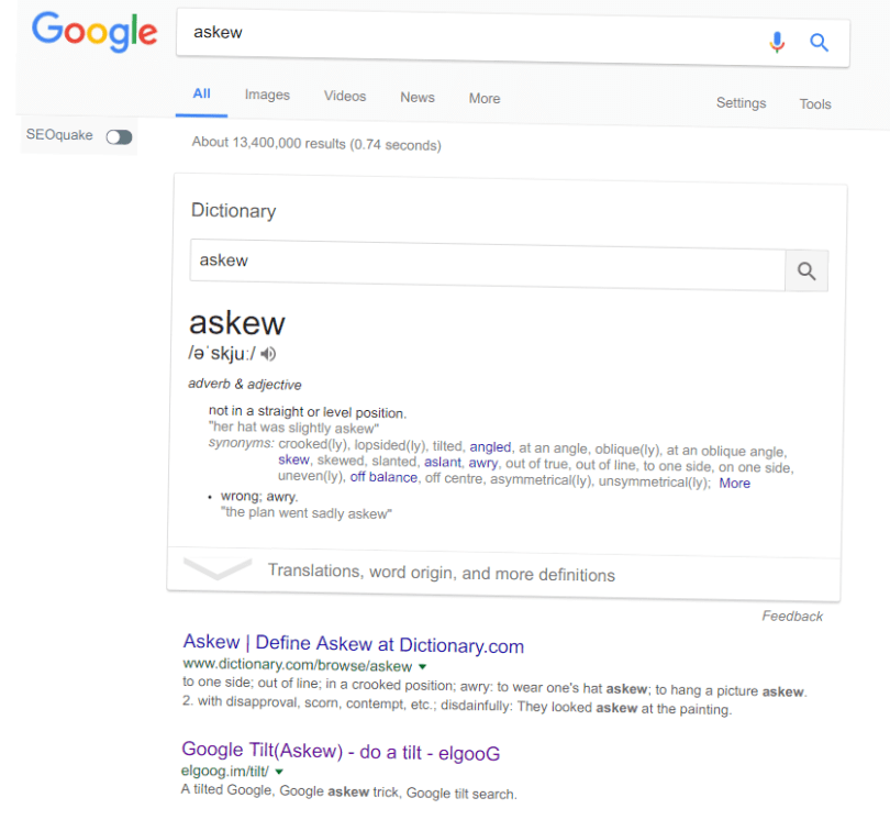 Askew: Google tilt