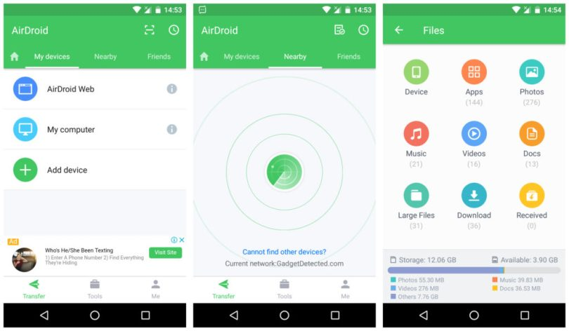 AirDroid Android File Transfer