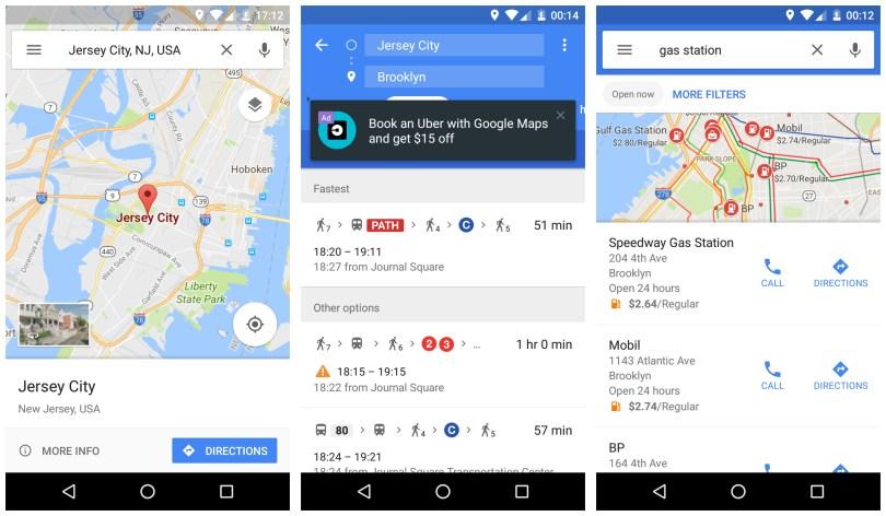 Google Maps GPS Navigations