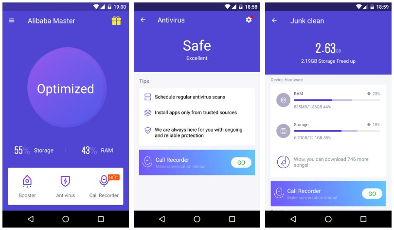 Alibaba Mobile Security and Android antivirus