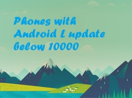 Android phones with Android L Lollipop below 10000