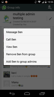 add multiple admins to WhatsApp groups