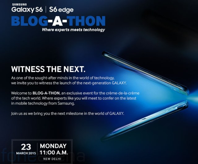 Samsung Galaxy S6 and S6 Edge to be launched in India on March 23rd