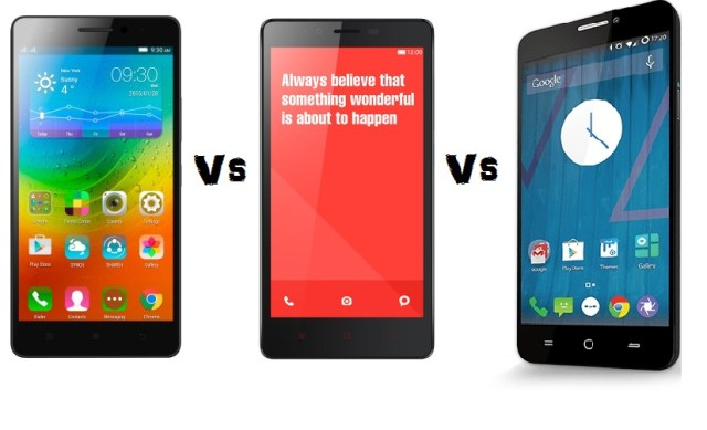 Lenovo A7000 Vs Micromax YUREKA Vs Redmi Note 4G