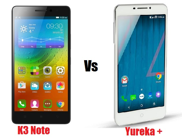 Lenovo K3 Note Vs Yu Yureka Plus comparison