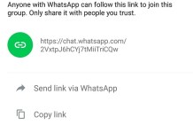 "WhatsApp adds the ""Invite to group via link"" feature in the latest Beta"