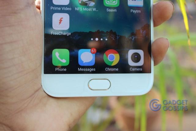 Vivo V5 Plus review - Fingerprint Scanner