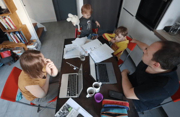 Apple employees with kids face the stressful burden of working from home