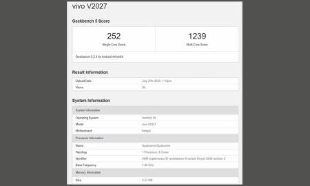Vivo Y20 (2020) with SDM460 launch is imminent