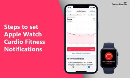 Steps to set Apple Watch Cardio Fitness Notifications