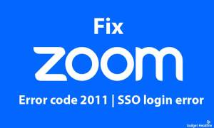 Fix Zoom error code 2011 | SSO login error