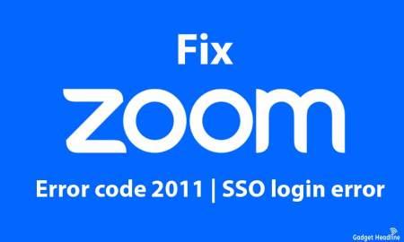 Fix Zoom error code 2011 | SSO login error