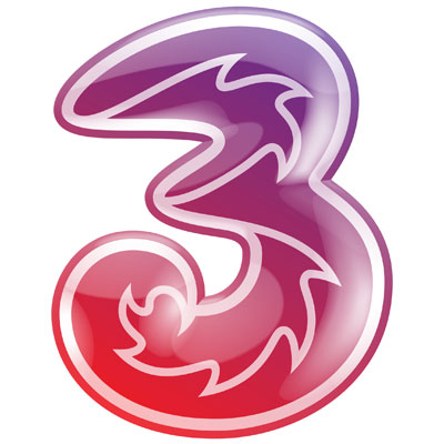 three 3 logo gadget