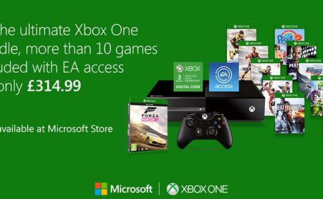 Xbox One With Ea Access And 3 Months Xbox Live Bundle For