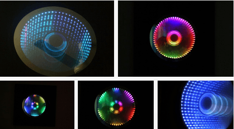 infinity mirror clock diy