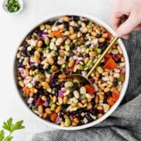Bean salad in a bowl
