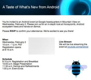 Google Andorid 3.0 Event 2. Februar 2011
