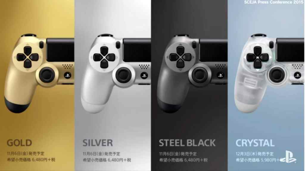DualShock 4 controllers new colors