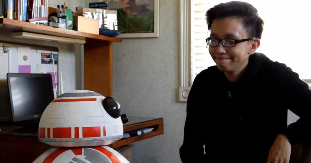 17-year-old Angelo Casimiro creates a life-size, fully functional BB-8.