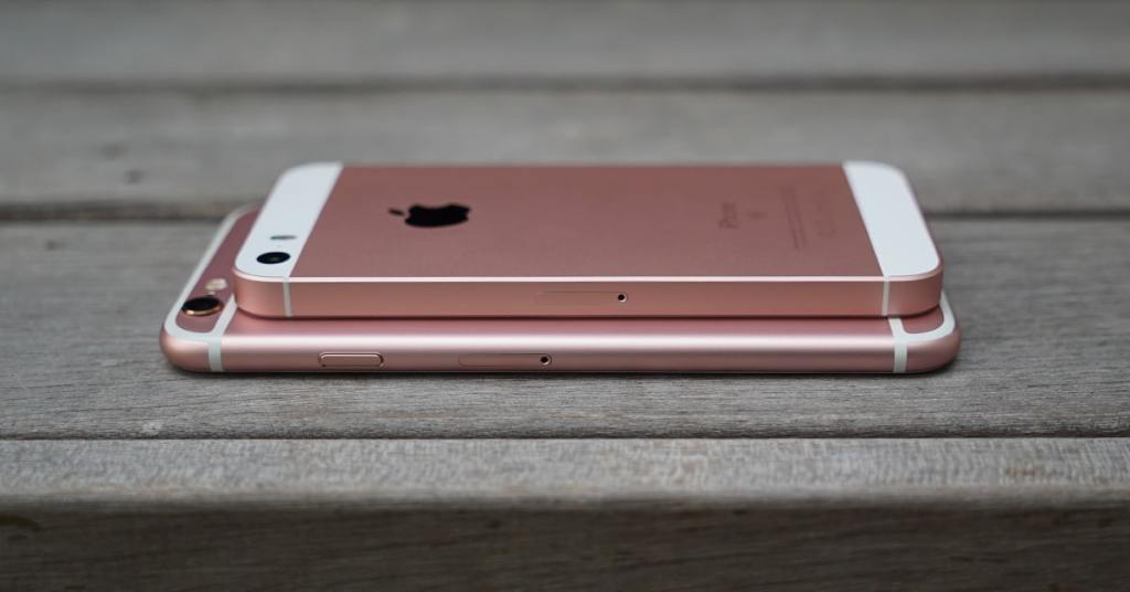 The iPhone SE although smaller is thicker than the iPhone 6s so its camera doesn't protrude.