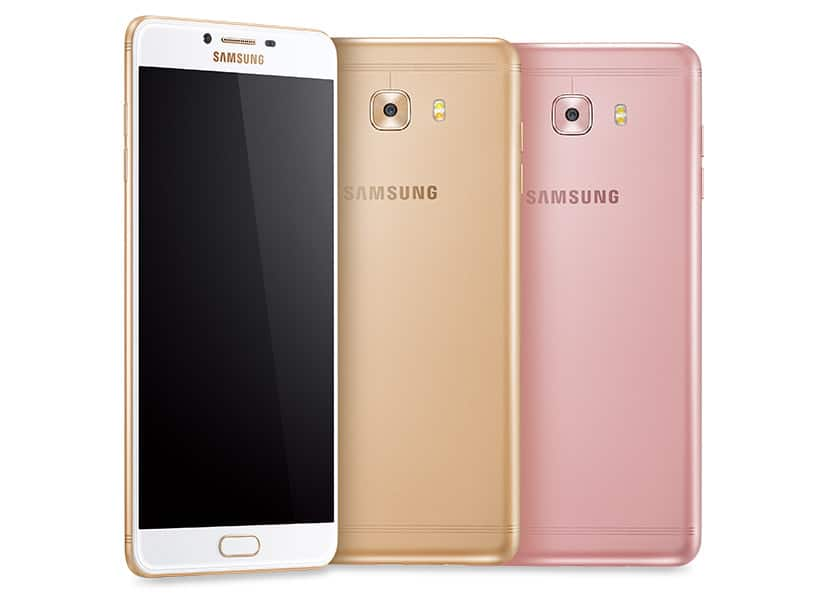 Samsung Galaxy C9 Pro front and back