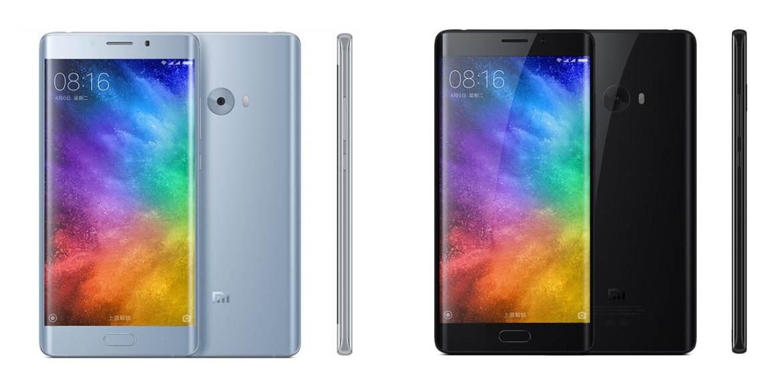 Xiaomi Mi Note 2 silver and black