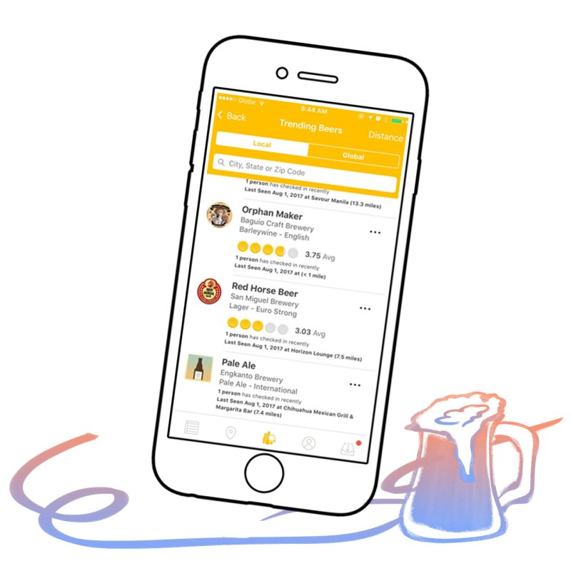 This app allows you to rate and review different beers, check where your drinking buddies are at, or scan beer barcodes to pull up details on your drink