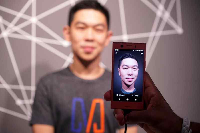 Sony Xperia XZ1 3D face scanning