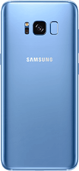 Galaxy S8 in Coral blue
