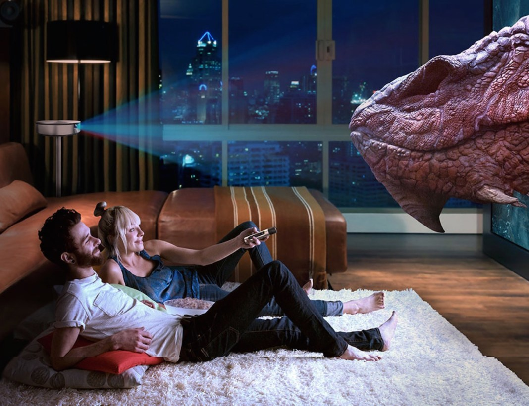 Bluetooth 3D Smart Home Theater Projector 02