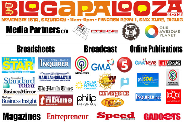 Blogapalooza-media-partners-tv-radio-print-newspapers-magazines-wheninmanila