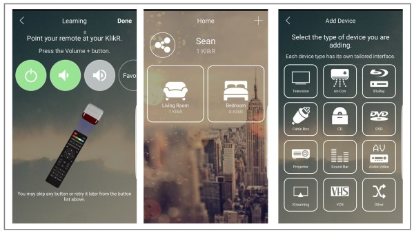 Kikr Application Screens