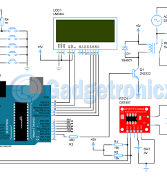 schematic design of automatic school bell system  [ 1200 x 848 Pixel ]
