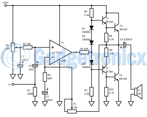 small resolution of circuit diagram of class b amplifier
