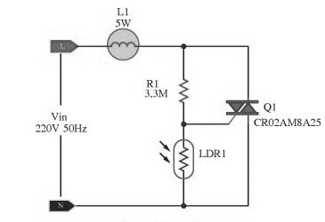 Automatic Lamp Dimmer Circuit using Triac