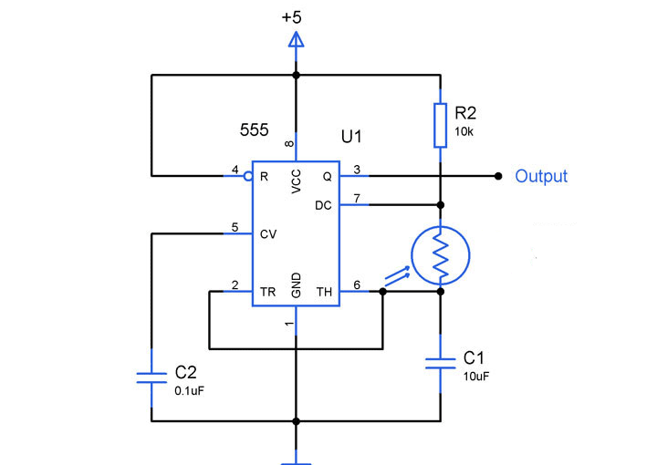 light to frequency converter circuit