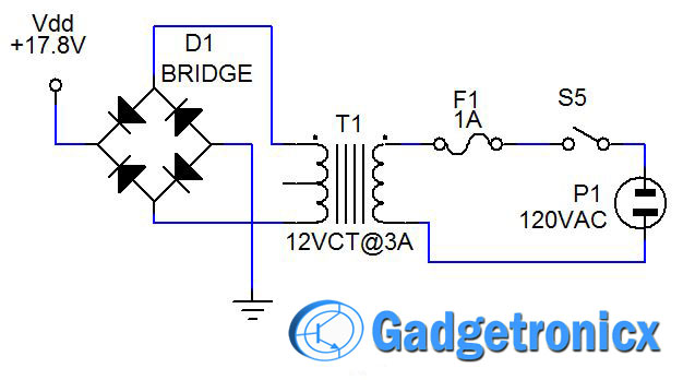 Wiring Diagram Of The Power Supply Circuit Board Please Refer To