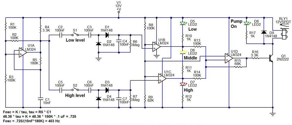 1000w Amplifier Circuit Using Transistor Sump Fill Pump Controller Circuit Gadgetronicx