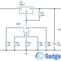 Led Wiring Diagram 9v How To Make A In Word 12v 6v 5v 3 3v Multiple Voltage Power Supply Circuit