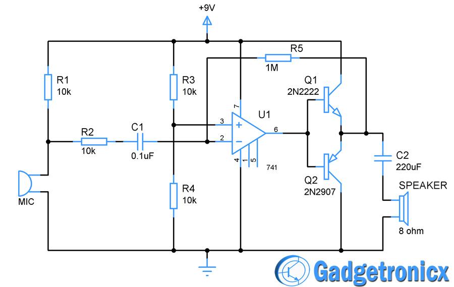 10000 Inverter Wiring Diagram Wired Spy Bug Circuit Gadgetronicx