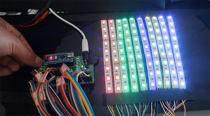 Simple Rgb Led Strip Effect Circuit Electronics Projects Circuits